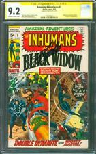 Amazing Adventures 1 CGC SS 9.2 Stan Lee Inhumans Black Widow Romita Kirby 8/70