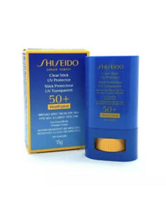 Shiseido Clear Stick UV Protector 50+ Wet Force SPF 50+ For Face & Body 0.52 oz