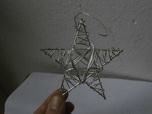Palla decorazione albero Natale STELLA ferro lavorato a mano Christmas iron ball