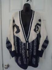 Vintage 80's Women's Spirit Black White Sweater size Small