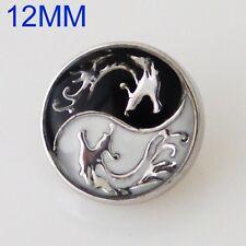 Click Button Mini Petite S5562 Drache Ying Yang - kompatibel Chunks-Systeme12mm