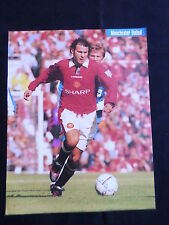 RYAN GIGGS - MANCHESTER UNITED PLAYER-1 PAGE PICTURE - CLIPPING/CUTTING