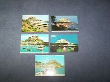 5 postcards of Mount Orgueil Jersey - Channel Islands  - 2 blank, 3 posted