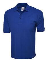 "2 X Uneek Cotton Rich Polo Shirt 100 Cotton Unisex Tee (uc112) 4xl 54"" Royal"