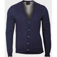 Mens ASOS Polka Dot Cardigan Sweater Jumper Vintage Button Cotton S M L XL XXL