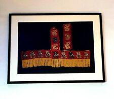 More details for  border fragment framed pre-columbian textile , rimac, central coast