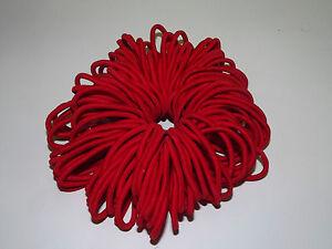 50 Quality Thick 4 mm Endless Snag Free Hair Elastics Bobbles Bands Ponios Mix