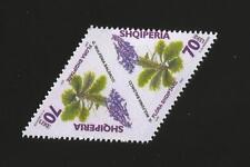Albania Albanien Albanie 2007 Flowers ERROR in Stamps Both sides printed