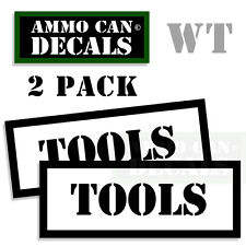TOOLS  Ammo Decal Sticker bullet ARMY Gun Can Box safety Hunting Label 2 pack WT