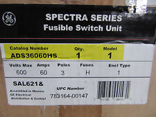 GE Spectra ADS36060HS Fusible Disconnect 3P 60A 600V 50HP Max NEW!!! in Box