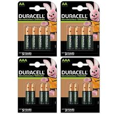 4X Duracell AA&AAA Ultra Rechargeable Batteries 750,900,1300,2500 mAH PreCharged