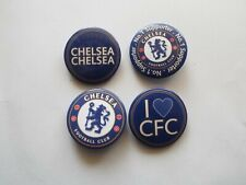 Chelsea FC Blues Fan Supporters Pack of 4 x 38mm wide Button Badges (Pk A)