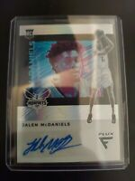 2019-20 CHRONICLES JALEN MCDANIELS FLUX SILVER PRIZM ROOKIE AUTO CARD