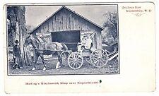 RARE Postcard - McCoy's Blacksmith Shop near Reynoldsville - Trumansburg NY 1907