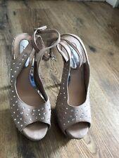 Topshop Premium Ladies Pink Gem Detailed High Heeled Shoes Size 6 UK 39 EUR
