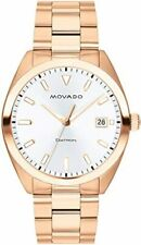 Movado Heritage Datron Rose Gold-tone Stainless Steel Men's Watch 3650058