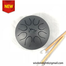 8 inch Steel Tongue Drum Hang Drum Pocket Drum F4-F5 8 Notes Steel Percussion