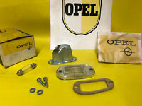 NEU + ORIGINAL OPEL Olympia Rekord P2 SATZ Nummernschildbeleuchtung LI CHROM NOS