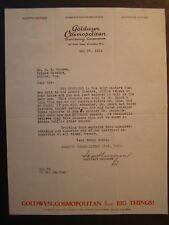 Movie Letterhead Goldwyn Cosmo 5/27/24 The Spoilers Milton Sills Anna Q Nilsson