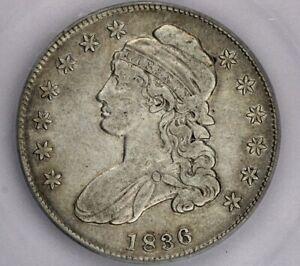 1836-P 1836 Capped Bust Half Dollar ICG-VF30 Sweet original look!