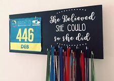 She Believed Bib & Medal Runner / Sports Medal & Bib hanger / holder /display
