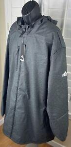 Adidas Game Built Heavyweight Outerwear Jacket BV3956, Men's Size 4XLT, NWT $175