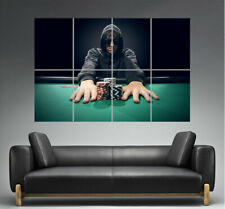Poker Player All In Poster Grand format A0 Large Print