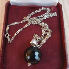 Necklace In Box.Top Quality/Stunning! Vintage Silver 12g Jet