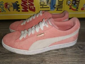 Puma Suede Women trainers pink Size Uk 7 Euro 40.5