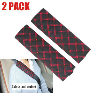 2X Car Safety Seat Belt Shoulder Pads Cover Cushion Harness Pad Accessory