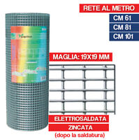 RETE METALLICA ZINCATA ELETTROSALDATA 19X19 RECINZIONE GABBIE CONIGLI 27972V
