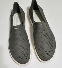 Mens Crocs, Size 13 Shoe, Citilane Roka Slip on, Gray, Iconic Comfort