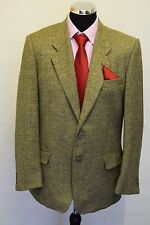 Ms559 UNGARO Uomo PARIS MEN'S beige Tweed come 2pz Suit circonferenza petto 40 W34 L31