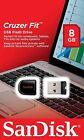SanDisk Cruzer Fit CZ33 8GB Mini Nano USB Flash Pen Drive Memory Thumb Stick