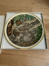 Lenox Collection Animal Decoration Wall Plate with Hanger in box ( jack rabbits)