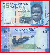 GHANA 5 Cedis 2017 Commemorative Pick  NEW  SC / UNC