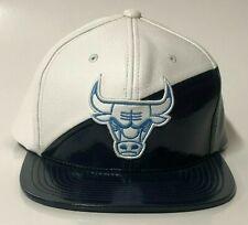 Chicago Bulls Mitchell & Ness Sneaker Hook AJ 11 White Navy Snapback Hat NBA