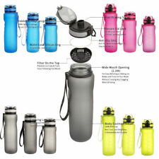New Outdoor Sports Portable Water Bottles Plastic Round Travel Water Bottle