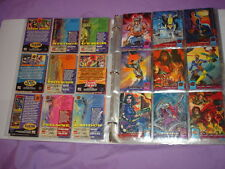 MARVEL CARD LOT IN ALBUM 1992 TO PRESENT 130 cards