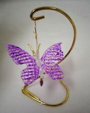 February Butterfly Spun Glass Butterfly Ornament Birthstone (New in box) #187053