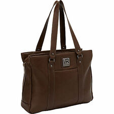 """Kenneth Cole Reaction Hit A Triple Laptop Tote - 17"""" Brown 538931"""