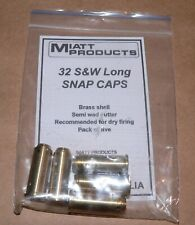 SNAP CAPS 32 S&W Long SNAP CAPS  TARGET PISTOL SHOOTING AUSTRALIAN MADE