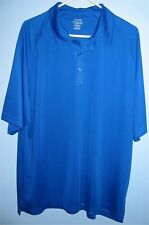 Men's Xl Reebok PlayDry Body Map Golf Shirt Royal Blue