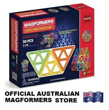 Genuine SUPER MAGFORMERS 30 Set (big pieces) 3D Magnetic building construction