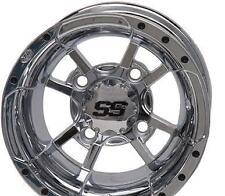 ITP - 1428464402B - SS112 Golf Cart Wheel, 14x6 - 3+3 Offset - 4/4 - Chrome~