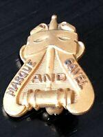 Vintage Masque and Gavel Pinback Lapel Pin Hat Pin Balfour