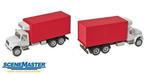 Walthers SceneMaster-Intl 4900 2-Axl Rfr Wh/Rd - HO