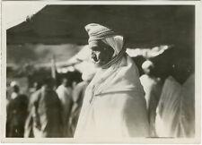 Photo Flandrin Argentique Maroc Si Hamou El Glaoui L'aigle de l'Atlas Vers 1930