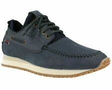 Sebago Men's Blue Navy Suede Jude Four Eye Boat Trainers Sneakers Boots Shoes Sz