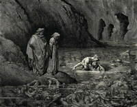 Gustave Dore Dante Inferno Poster Reproduction Paintings Giclee Canvas Print